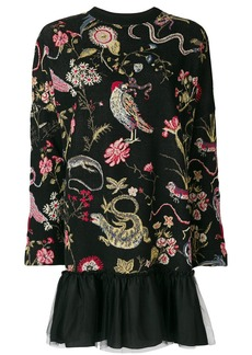 RED Valentino patterned sweatshirt dress