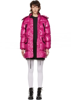 RED Valentino Pink Down Glossy Coat