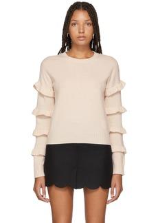 RED Valentino Pink Ruffle Sleeve Sweater