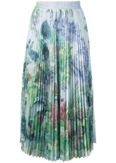 RED Valentino pleated floral midi skirt
