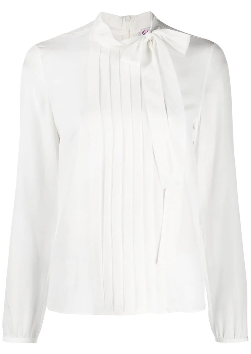RED Valentino pleated front blouse