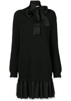 RED Valentino pleated hem sweatshirt dress