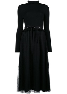 RED Valentino plumetti midi dress