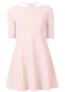 RED Valentino Point D'esprit tulle knit dress
