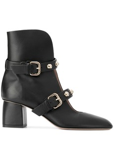 RED Valentino RED(V) pointed buckled ankle boots