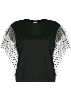 RED Valentino polka dot sleeve T-shirt
