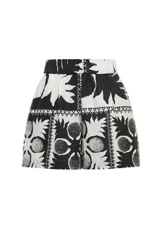 RED Valentino Printed Heavy Poplin Shorts