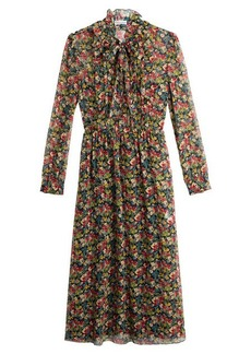 RED Valentino Printed Silk Dress