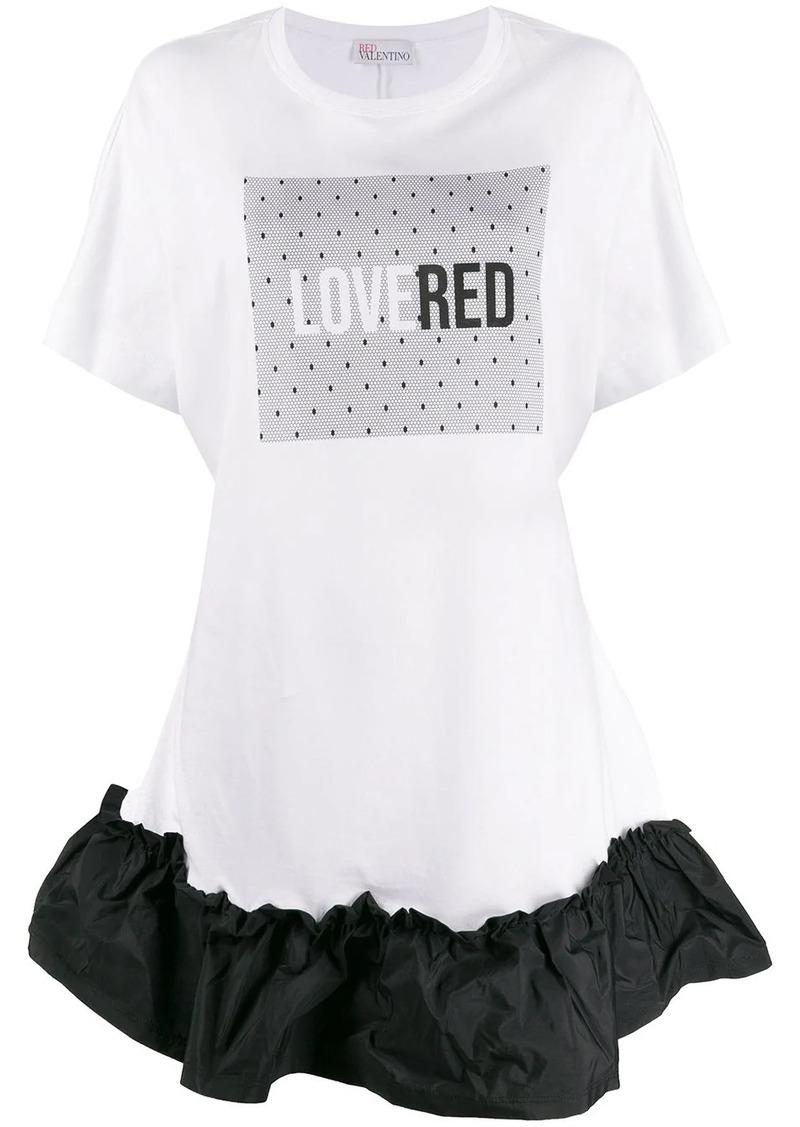 RED Valentino printed T-shirt dress