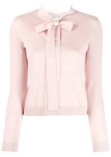 RED Valentino pussy bow jumper