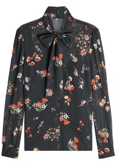 RED Valentino Pussy-Bow Printed Silk Blouse
