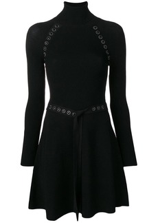 RED Valentino RED (V) embellished ribbed turtleneck dress