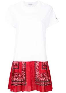 Red Valentino bandana T-shirt dress - White