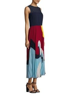 RED Valentino Beach Pleated Midi Dress