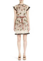 RED Valentino Blooming Garden Embroidered Tulle Dress