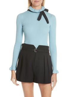 RED Valentino Bow Neck Wool Sweater