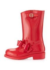 RED Valentino Bow Rubber Mid-Calf Rain Boot