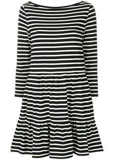 Red Valentino breton striped dress - Black