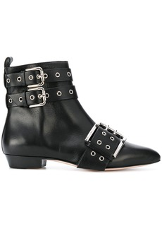 Red Valentino buckled ankle boots - Black