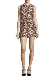 RED Valentino Chelsea Sleeveless Micro-Flower Jacquard Minidress