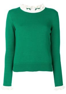 Red Valentino contrast trim jumper - Green