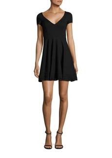 RED Valentino Cotton Lace Trim A-Line Dress