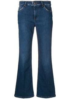 Red Valentino cropped flared jeans - Blue