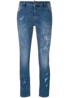 Red Valentino distressed skinny jeans - Blue