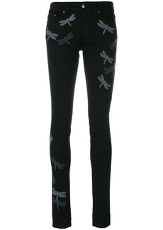 Red Valentino dragonfly jeans - Black