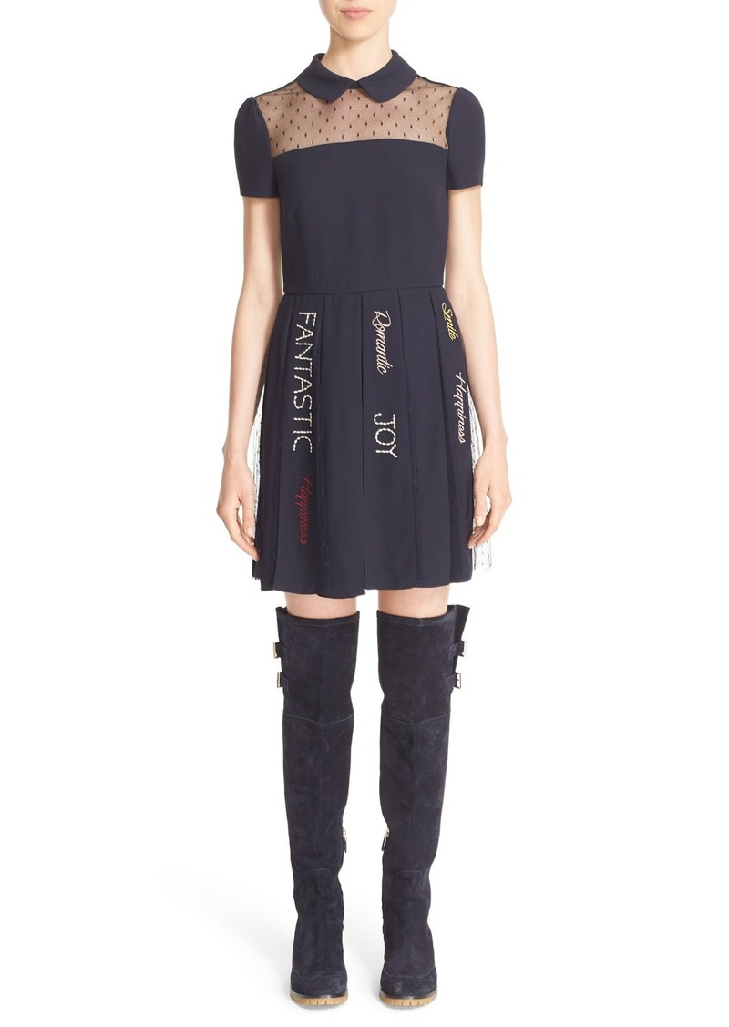 Red Valentino Embroidered Dress Dresses