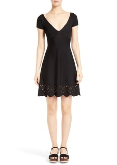 RED Valentino Embroidered Knit Dress
