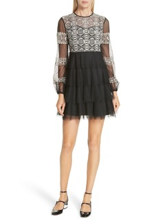 RED Valentino Embroidered Point d'Esprit Dress