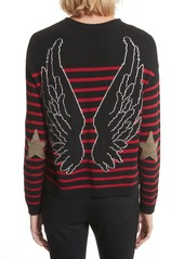 RED Valentino Embroidered Star Sweater