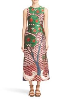 RED Valentino Fantasy Landscape Jacquard Midi Dress