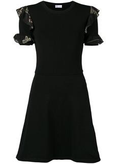 Red Valentino flared ruffles summer dress - Black