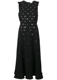 RED Valentino floral sequinned maxi dress