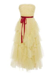 Red Valentino Glitter Dot Tulle Dress