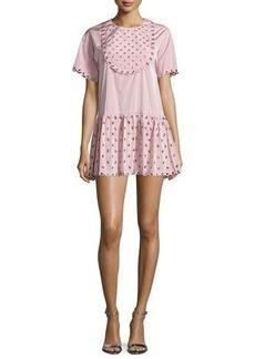 RED Valentino Grommet-Embellished Mini Dress