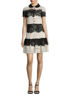 RED Valentino Horizontal Lace Dress