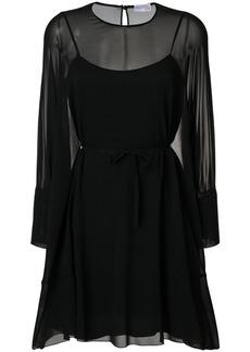 Red Valentino tie-waist dress - Black