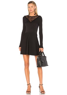 Red Valentino Lace Insert Mini Dress in Black. - size L (also in M,S,XS)