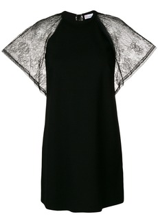 Red Valentino lace sleeve shift dress - Black