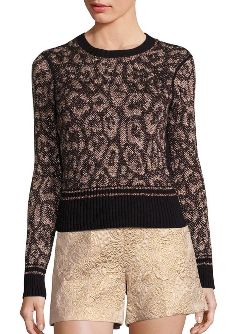 RED Valentino Leopard-Print Sweater