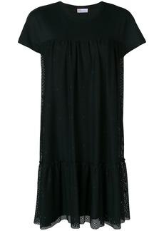 Red Valentino mesh layered T-shirt dress - Black