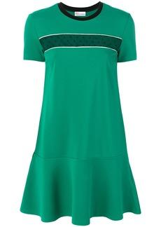 Red Valentino mesh panel mini T-shirt dress - Green
