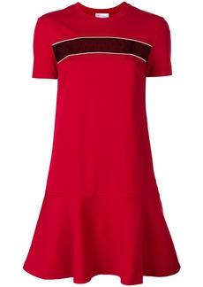 Red Valentino mesh panel T-shirt dress