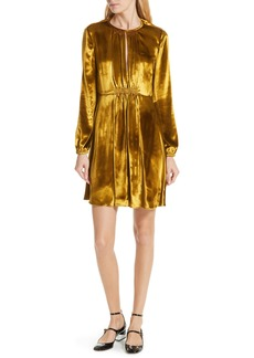 RED Valentino Metallic Pleated Minidress