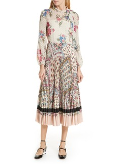 RED Valentino Mixed Floral Jacquard Dress