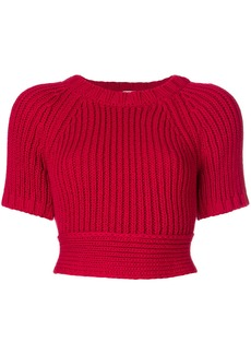 Red Valentino open back sweater