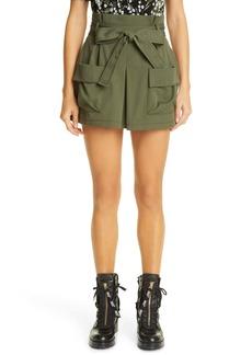 RED Valentino Paperbag Waist Cargo Shorts
